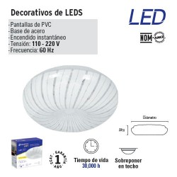Luminario Decorativo de LED Tipo Taflon VOLTECK