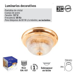 Luminario Decorativo de Cristal VOLTECK