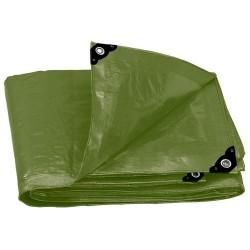 Lona Uso Rudo Verde Olivo 240 g/m Espesor de 0.40 mm TRUPER