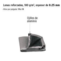 Lona Reforzada 180 g/m² Espesor de 0.25 mm Gris TRUPER