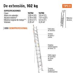 Escalera de Extencion 102 kg TRUPER