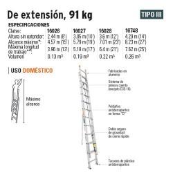 Escalera de Extencion 91Kg TRUPER