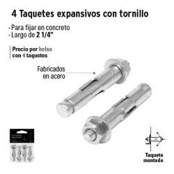 Taquetes Expansivos con Tornillo FIERO