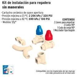 Kit de Instalacion para Regadera Sin Manerales CPVC FOSET