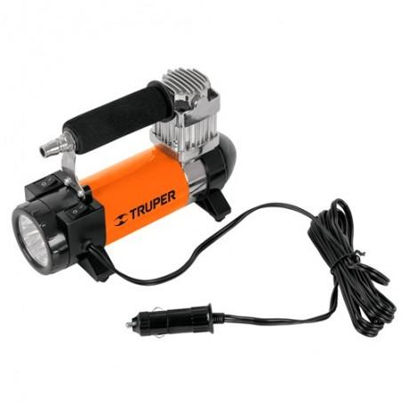 Compresor de 12 V para Auto con Linterna TRUPER