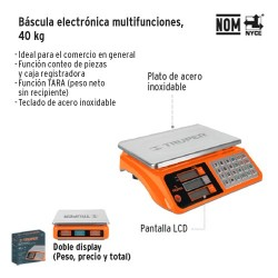 Bascula Electronica Multifunciones 40 kg TRUPER