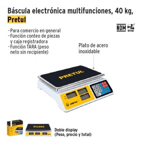 Bascula Electronica Multifunciones PRETUL