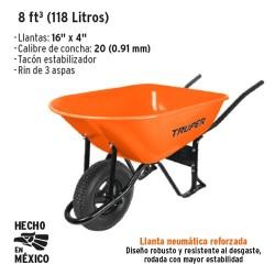 Carretilla 8 ft³ (118 Litros) TRUPËR