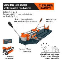 Cortador de Azulejo Profesional con Baleros TRUPER