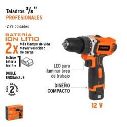 "Taladro 3/8"" Profesional TRUPER"