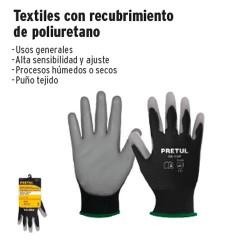 Guante Textil con Recubrimiento de Poliuretano PRETUL