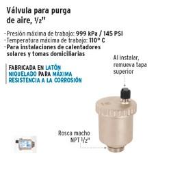 """Valvula para Purga de Aire 1/2"""" FOSET"""
