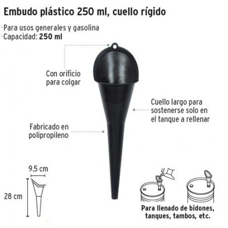 Embudo Plastico Rigido 250 ml TRUPER