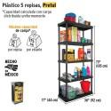 Estante Plastico 5 Repisas PRETUL