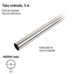 Tubo Redondo 3 m Cromado para Closet HERMEX