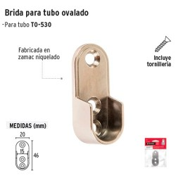 Brida Cromada para Tubo Ovalado de Closet HERMEX