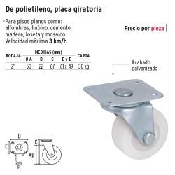 Rodaja de Polietileno Placa Giratoria FIERO