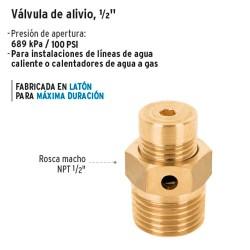 """Valvula de Alivio 1/2"""" FOSET"""