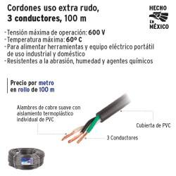 Cable Uso Extra Rudo 3 Conductores 100 m VOLTECK