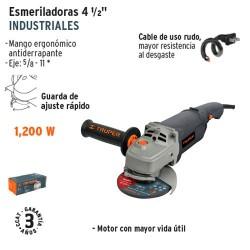"Esmeriladora Angular 4 1/2"" Industrial 1200 W TRUPER"