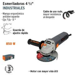 "Esmeriladora Angular 4 1/2"" Industrial 850 W TRUPER"