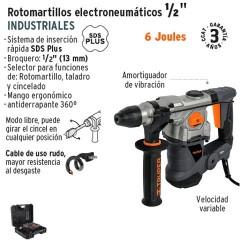 "Rotomartillo Electroneumatico SDS PLUS 6 Joules 1/2"" Industrial TRUPER"