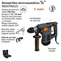 "Rotomartillo Electroneumatico SDS PLUS 5 Joules 1/2"" Industrial TRUPER"