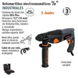 "Rotomartillo Electroneumatico SDS PLUS 3 Joules 1/2"" Industrial TRUPER"