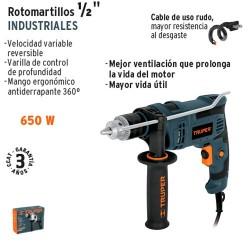 "Rotomartillo Industrial 1/2"" 650 W TRUPER"