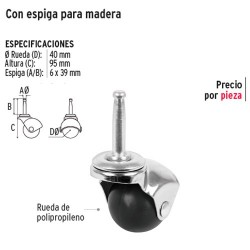 Rodaja Esferica con Espiga para Madera FIERO