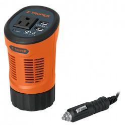 Inversor de Corriente tipo Vaso con 2 Puertos USB 120 W TRUPER