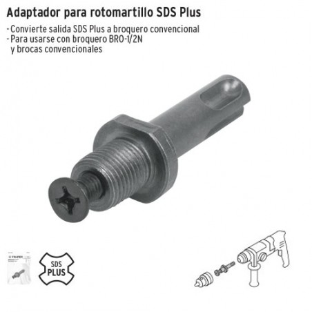 Adaptador para Rotomartillo SDS PLUS TRUPER