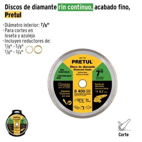 Disco de Diamante Rin Continuo Fino PRETUL