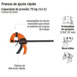 Prensa de Ajuste Rapido TRUPER