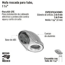 "Mufa Roscada para Tubo 1 1/4"" VOLTECK"