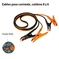 Cables Pasa Corriente Calibres 8 y 6 TRUPER