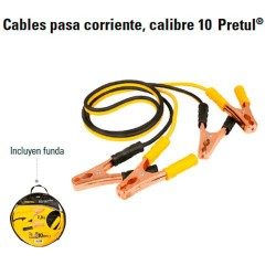 Cables Pasa Corriente Calibre 10 PRETUL
