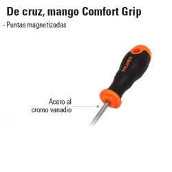 Desarmador de Cruz Mango Comfort Grip TRUPER