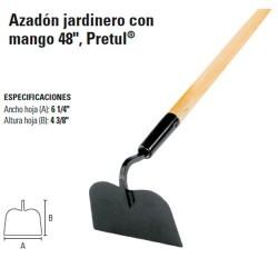 """Azadón Jardinero con Mango 48"""" PRETUL"""