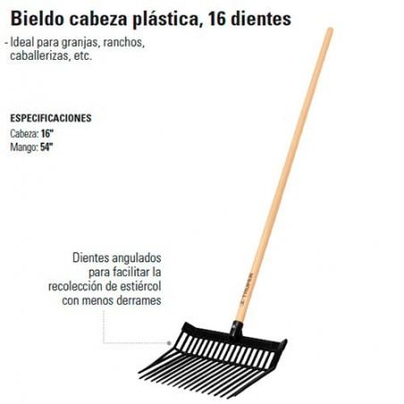 Bieldo Cabeza Plástica 16 Dientes TRUPER