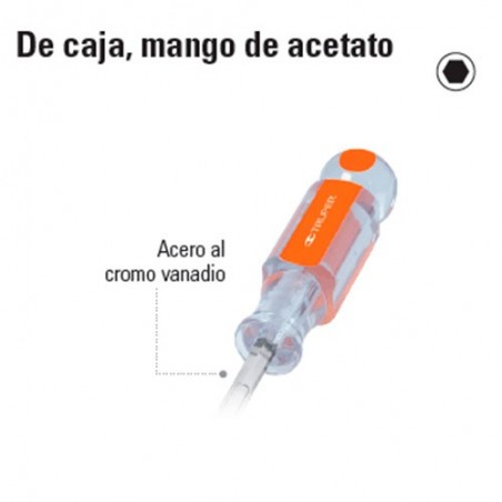 Desarmador de Caja Mango de Acetato TRUPER
