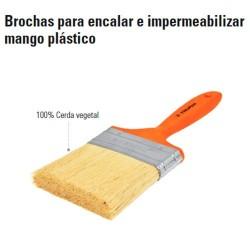 Brocha para Encalar e Impermeabilizar Mango de Plástico TRUPER