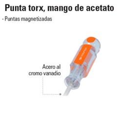 Desarmador Punta Torx Mango de Acetato TRUPER