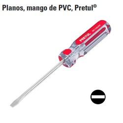 Desarmador Plano Mango de PVC PRETUL