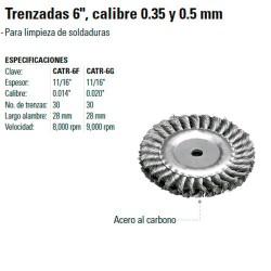 "Carda Trenzada 6"" TRUPER"