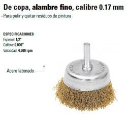 Carda de Copa Alambre Fino Calibre 0.17 mm TRUPER