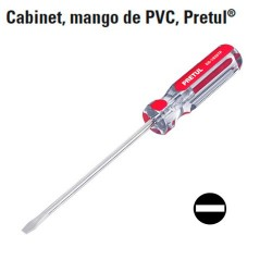 Desarmador Cabinet Mango de PVC PRETUL