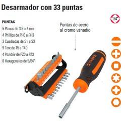 """Desarmador con 33 Puntas 1/4"""" TRUPER"""
