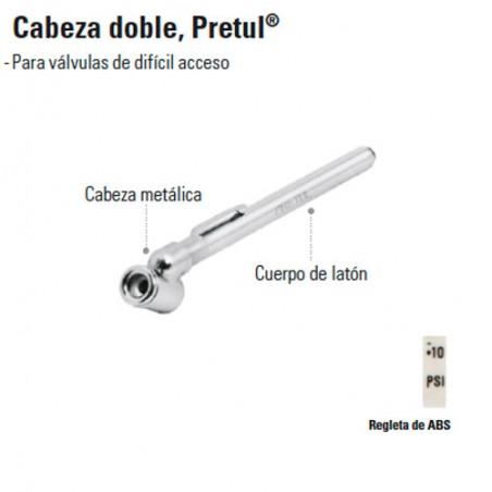 Calibrador de Presión Cabeza Doble PRETUL