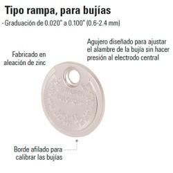 Calibrador de Bujías Tipo Rampa TRUPER